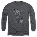 The Joker adult long-sleeved shirt Always A Joker charcoal