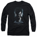The Joker adult long-sleeved shirt Arkham Origins black