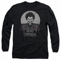 The Joker adult long-sleeved shirt Busted! black