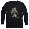 The Joker adult long-sleeved shirt Crazy Lips black