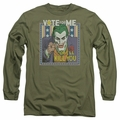 The Joker adult long-sleeved shirt Dark Detective #1 military green
