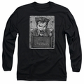 The Joker adult long-sleeved shirt Joker Inmate black