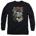 The Joker adult long-sleeved shirt Jokers Wild black