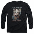 The Joker adult long-sleeved shirt Just For Laughs black