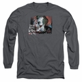 The Joker adult long-sleeved shirt Plenty Wrong charcoal