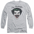 The Joker adult long-sleeved shirt Retro Joker silver