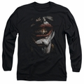 The Joker adult long-sleeved shirt Smile Of Evil black