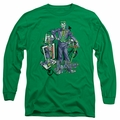 The Joker adult long-sleeved shirt Wild Cards kelly green