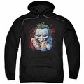 The Joker pull-over hoodie Doll Heads adult black