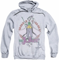 The Joker pull-over hoodie Maniacal adult athletic heather