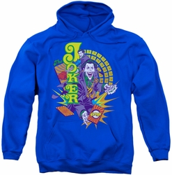 Joker pull-over hoodie Raw Deal adult royal blue
