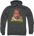 The Office pull-over hoodie Did I Stutter adult charcoal