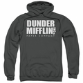 The Office pull-over hoodie Dunder Mifflin adult charcoal