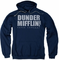 The Office pull-over hoodie Dunder Mifflin Distressed adult navy