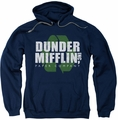 The Office pull-over hoodie Recycle Mifflin adult navy