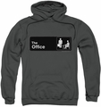 The Office pull-over hoodie Sign Logo adult charcoal