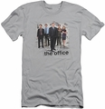 The Office slim-fit t-shirt Cast mens silver