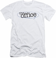 The Office slim-fit t-shirt Circled Logo mens white