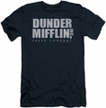 The Office slim-fit t-shirt Dunder Mifflin Distressed mens navy