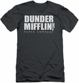 The Office slim-fit t-shirt Dunder Mifflin mens charcoal