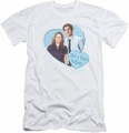 The Office slim-fit t-shirt Jim & Pam 4 Ever mens white