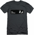 The Office slim-fit t-shirt Sign Logo mens charcoal