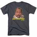 The Office t-shirt Did I Stutter mens charcoal
