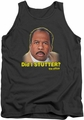 The Office tank top Did I Stutter mens charcoal