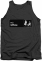 The Office tank top Sign Logo mens charcoal