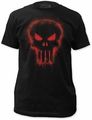 The Punisher Red Logo Fitted Jersey t-shirt