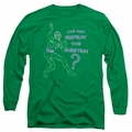 The Riddler adult long-sleeved shirt Repeat kelly green