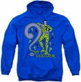 The Riddler pull-over hoodie Portrait adult royal blue