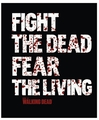 The Walking Dead Fight The Dead Fear The Living Fleece Throw Blanket