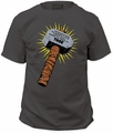 Thor whosoever holds this hammer adult tee charcoal