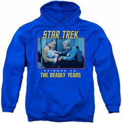 Star Trek Original Series pull-over hoodie Episode 40 adult royal blue
