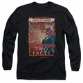 Two Face adult long-sleeved shirt Two Faces black