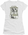 Up In Smoke juniors t-shirt Labrador white