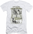 Up In Smoke slim-fit t-shirt Labrador mens white