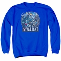 Valiant adult crewneck sweatshirt Ready For Action royal blue