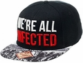 Walking Dead We're All Infected Black Snapback Baseball Cap