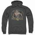 Watchmen pull-over hoodie Nite Owl adult charcoal