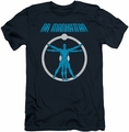Watchmen slim-fit t-shirt Anatomy mens navy