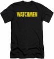 Watchmen slim-fit t-shirt Logo mens black
