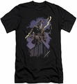 Watchmen slim-fit t-shirt Rorschach Night mens black