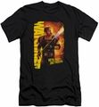 Watchmen slim-fit t-shirt Smoke Em mens black