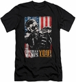 Watchmen slim-fit t-shirt The Comedian Wants You mens black