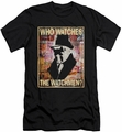 Watchmen slim-fit t-shirt Who Watches mens black