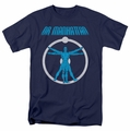 Watchmen t-shirt Dr Manhattan Anatomy mens navy