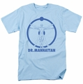 Watchmen t-shirt Dr Manhattan Symbol mens light blue