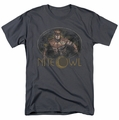 Watchmen t-shirt Nite Owl mens charcoal
